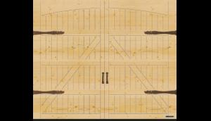 """Wzór 405, z opcjonalnymi okuciami imitującymi bramę skrzydłową """"Exklusiv"""", świerk skandynawski"""