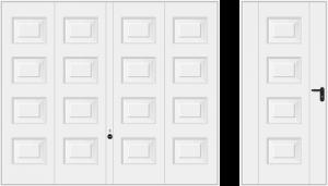 Wzór 973, biały RAL 9016