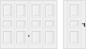 Wzór 975, biały RAL 9016