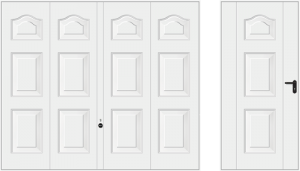 Wzór 977, biały RAL 9016