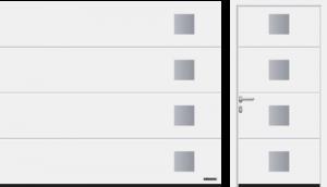 Przetłoczenia L (LPU 67 Thermo, LPU 42), wzór 454, kolor biały RAL 9016