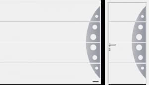 Przetłoczenia L (LPU 67 Thermo, LPU 42), wzór 458, kolor biały RAL 9016